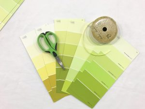supplies to make a diy party garland with nix pro color sensor
