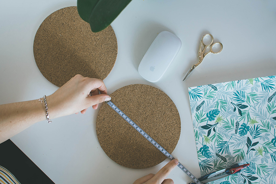 DIY Pattern Mouse Pad Tutorial How To Step 1