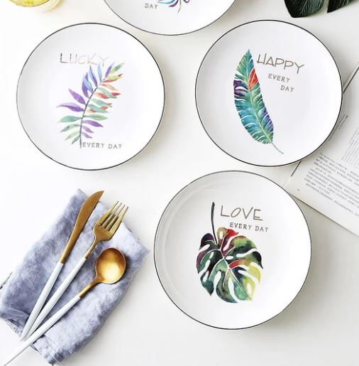 PopsicleSocietyShop_Green plants ceramic plate_nature