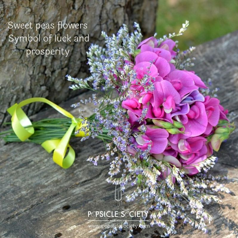 Sweet peas flowers bouquet_Popsicle Society