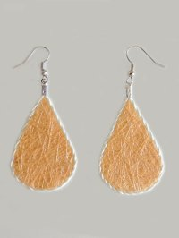 Lightweight earrings yellow ochre | PopsPlaza