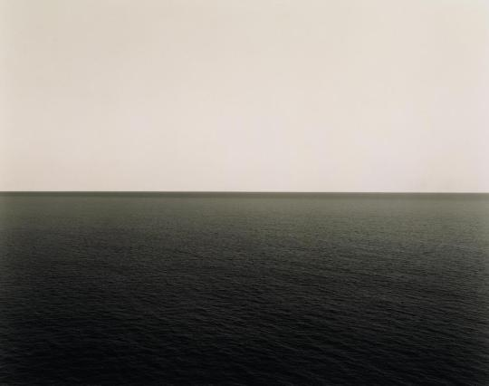 Hiroshi Sugimoto's Seascapes: The Tyrennian Sea. Sugimoto paints photography over time with light. Credit: Hiroshi Sugimoto