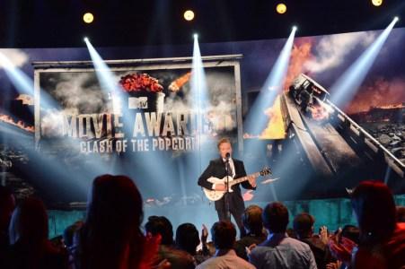 Conan O'Brien at the 2014 MTV Movie Awards (Credit -  Jeff Kravitz)