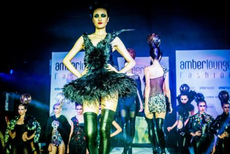 Let the models do the peacock dressing. Amber Lounge, 2013.