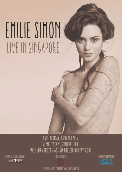 Emilie Simon Live in SG-flyer