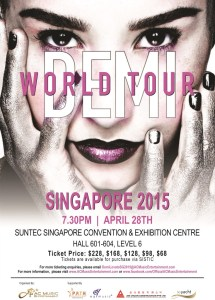 DEMI WORLD TOUR IN SINGAPORE 2015
