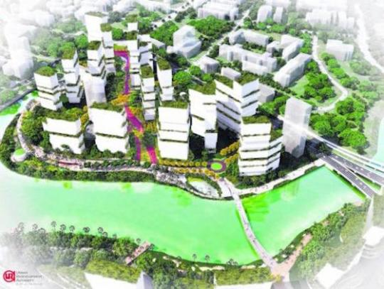 Artist's impression of Kampong Bugis (Photo: URA)