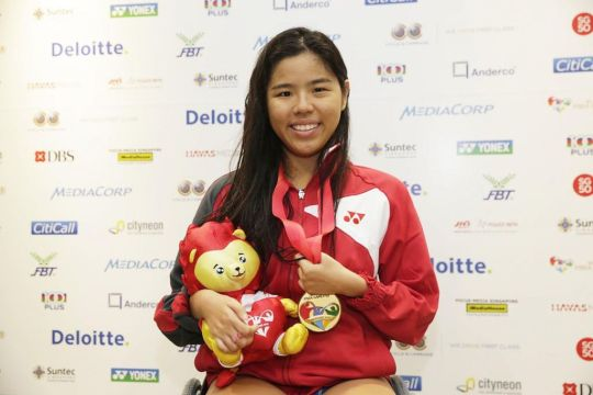 Yip Pin Xiu at 2015 ASEAN Para Games (Photo Credit: Today Online)