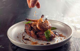 Thai basil quail with crispy garlic_Ding Dong