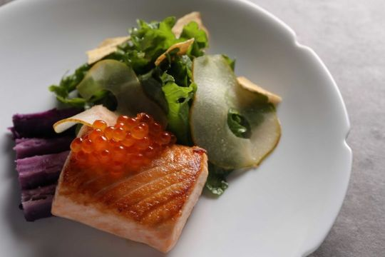seared-salmon-nude seafood