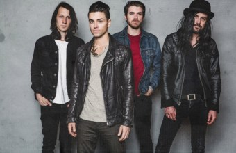 Rock band Dashboard Confessional (fronted by singer-songwriter Chris Carrabba, second from left) will co-headline Pacific Amphitheatre in Costa Mesa on Thursday, July 13. (Photo by David Bean)