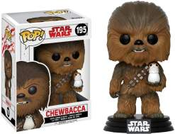Image Star Wars - Chewbacca with Porg Episode VIII US Exclusive Pop! Vinyl