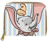 Image Dumbo - Dumbo with Stripes Zip-Around Wallet