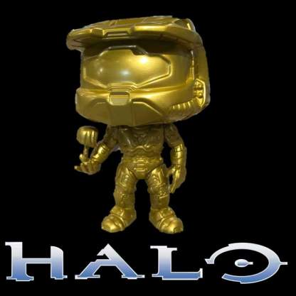 Image Halo - Master Chief with Cortana Metallic Gold Pop! Vinyl Figure