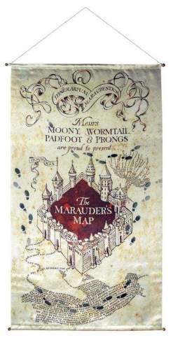 Image Harry Potter - Marauder's Map Satin Banner