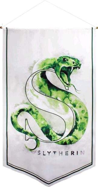 Image Harry Potter - Slytherin Watercolour Satin Banner