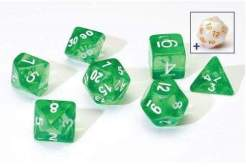 Image Sirius Dice - Polyhedral Dice Set- Translucent Green