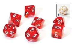Image Sirius Dice - Polyhedral Dice Set- Translucent Red