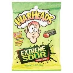 Image Warheads Extreme Sour Hard Candy Peg Bag