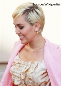 Miley Cyrus American singer and actress has participated in charity singles and donated money to medical centers such as City of Hope. She also visits fans in hospitals and helps homeless people.
