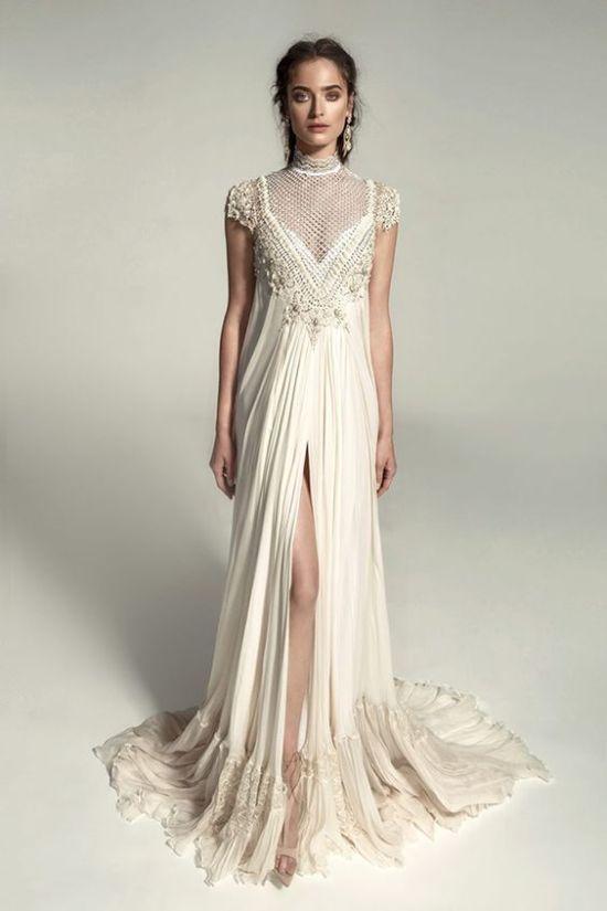 chic boho wedding dress