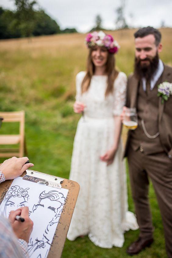 Wedding caricaturist in Wedding Checklist process