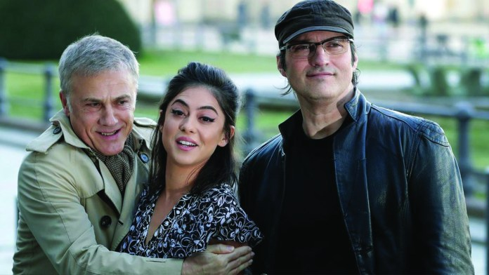 Christof Waltz, Rosa Salazar, and Robert Rodriguez