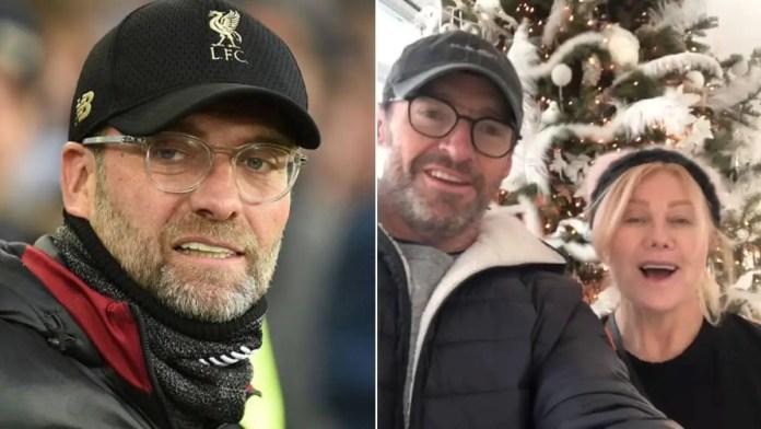 Hugh Jackman looks like Liverpool manager Jurgen Klopp in Insta video