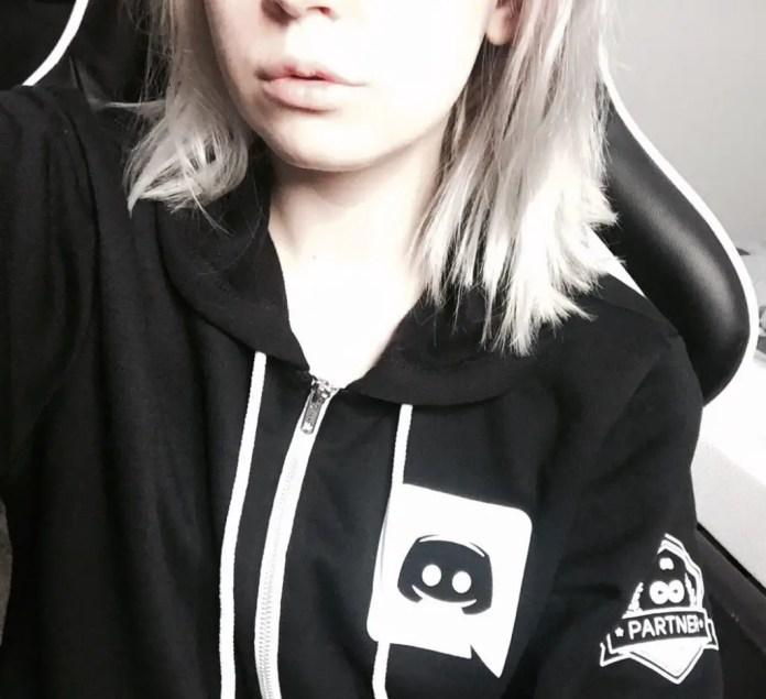 Girl in Discord partner hoodie