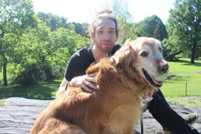 Rod Slasher Breslau with dog