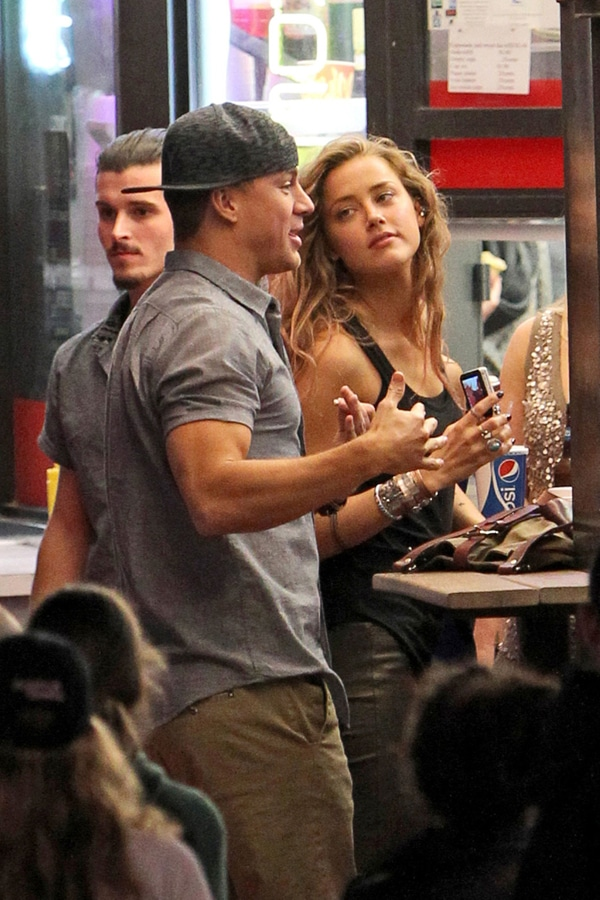 Amber Heard busted with Channing Tatum