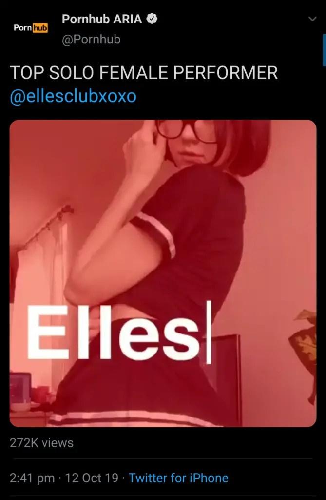 Pornhub ARIA twitter