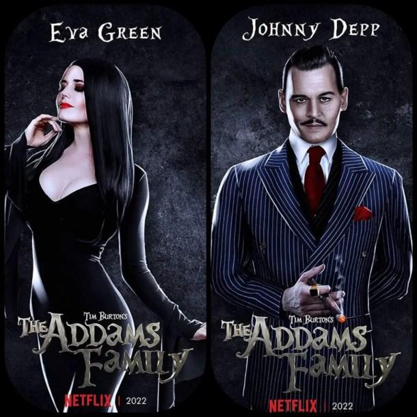 Eva Green and Johnny Depp Addams Family