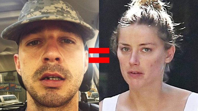 Johnny Depp fans are comparing Shia LaBeouf to Amber Heard