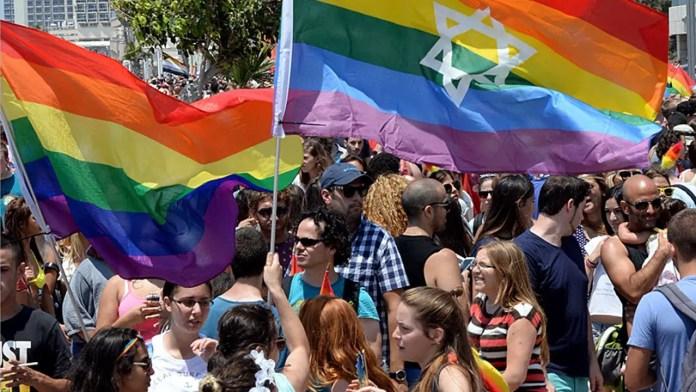 LGBTQ gay and lesbian pride march in Tel Aviv, Israe
