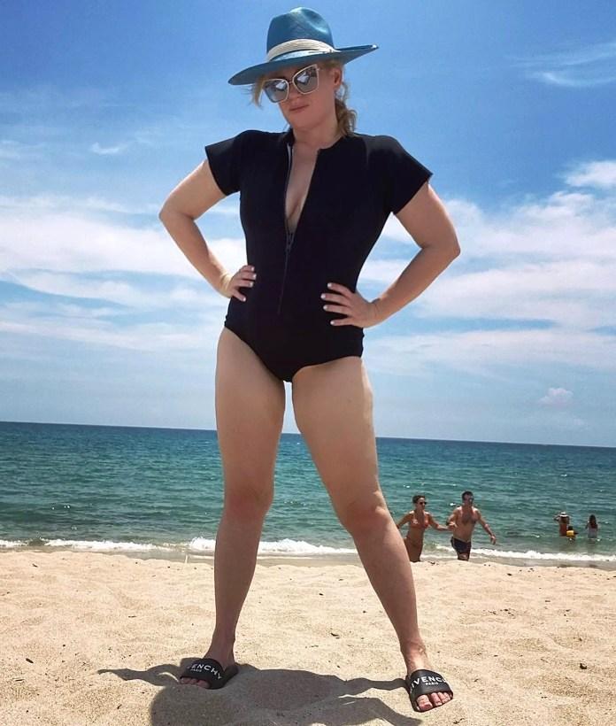 Rebel Wilson weight loss bikini beach