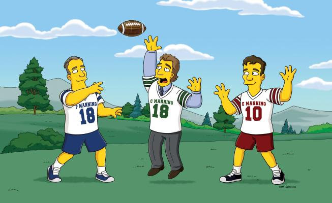 5. Eli and Peyton Manning on the Simpsons
