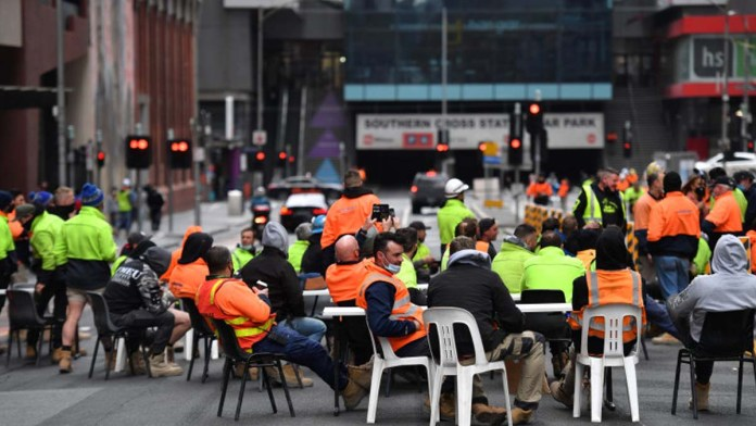 Melbourne Tradie anti-lockdown protest blackout