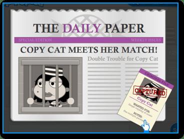 Captured Copy Cat in Poptropica Super Power Island