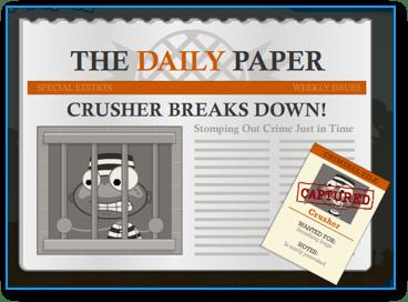 Captured Crusher in Poptropica Super Power Island