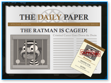 Captured Ratman in Poptropica Super Power Island