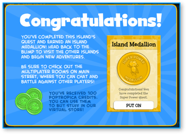Finished Poptropica Super Power Island