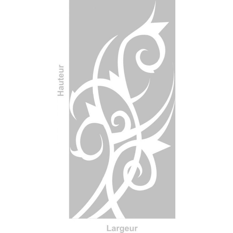film adhesif aspect verre depoli sur mesure pour vitre design 208