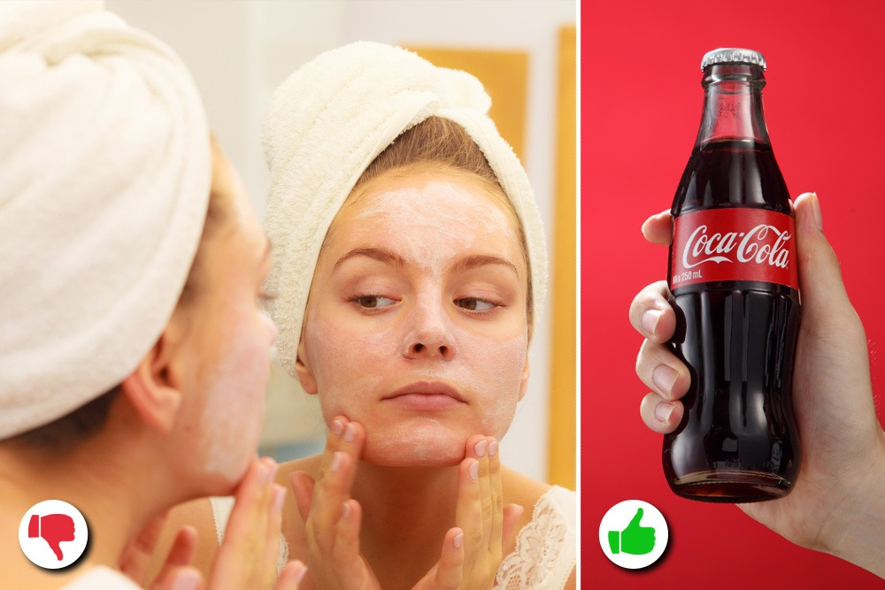 10 Amazing Uses You Never Knew About for Coca-Cola - Coca-Cola Used as Face Moisturizer