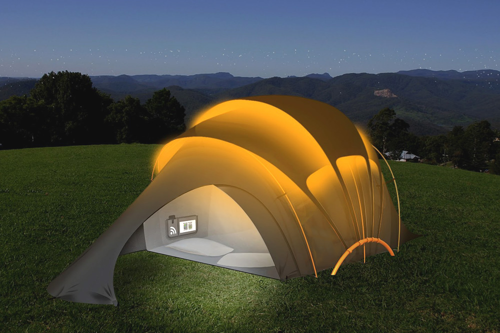 Jaw Dropping Inventions That Will Make Your Life Easier - Solar-powered Tent Provides, Light and Heating