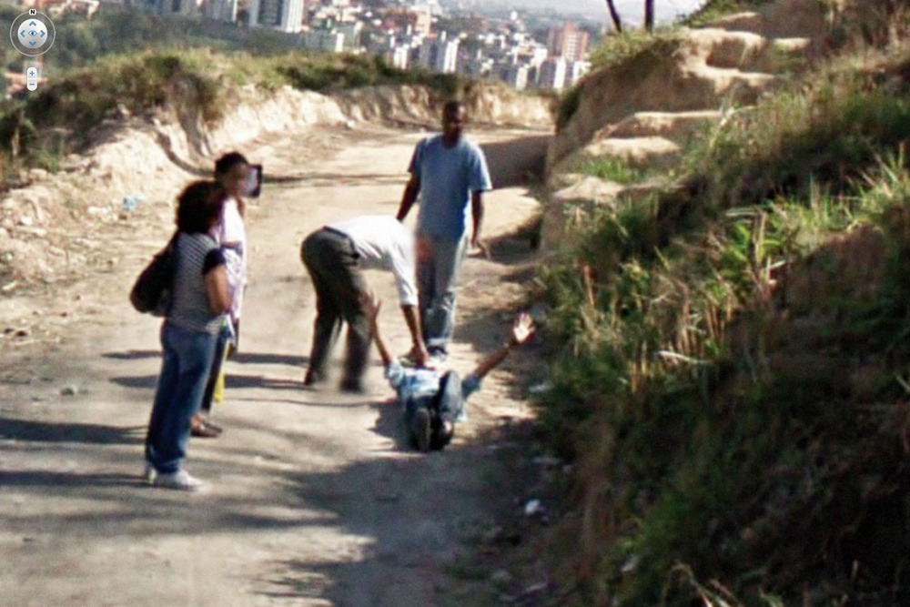 15 Crazy Moments Captured on Google Street View - Man Brutally Attacked