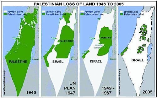 Israeli Palestinian Map Territory