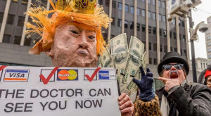 Republican Trump March 21, 2017 healthcare protest Erik McGregor for Sipa via AP Images