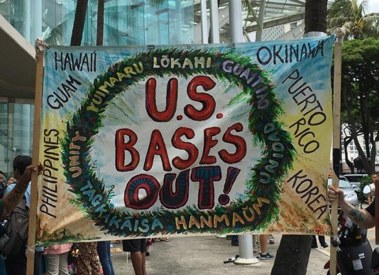 US military base protest
