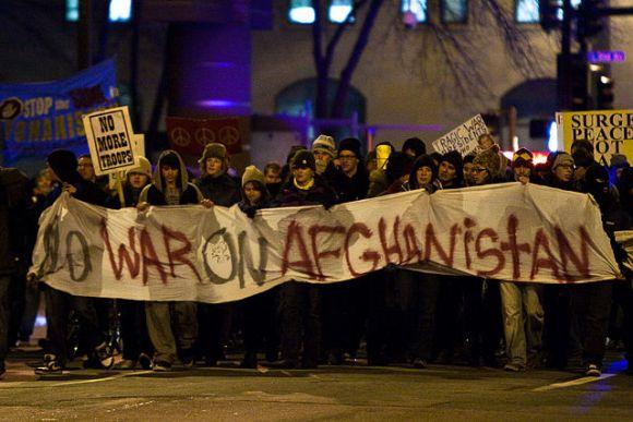 Afghan war protest